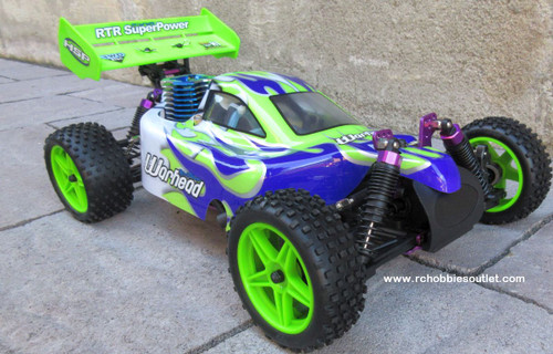 HSP  RC Buggy / Car WARHEAD Nitro Gas Engine 2 Speed 1/10 Scale 2.4G   66002