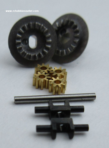 24622 Diff. Joint Cup Gear + Diff. Gear (9T) + Diff. Gear Shaft For  HSP and ESX  1/24 Scale Vehicles