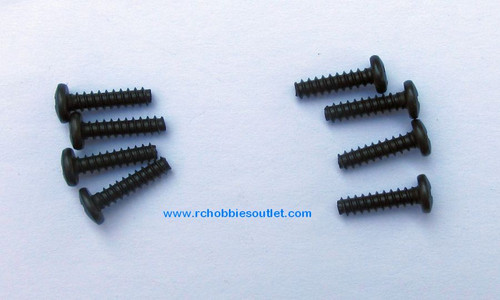 81220 - 14 Rounded Head Self-Tapping Screw 4x12mm 8pcs HSP Redcat