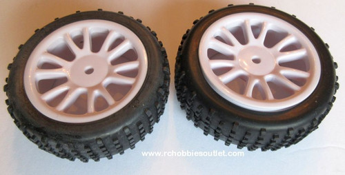 85024N Rear Wheels Complete White