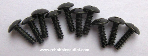 60078 Cap Head Self tapping Screw 3*10mm  (10 pieces)
