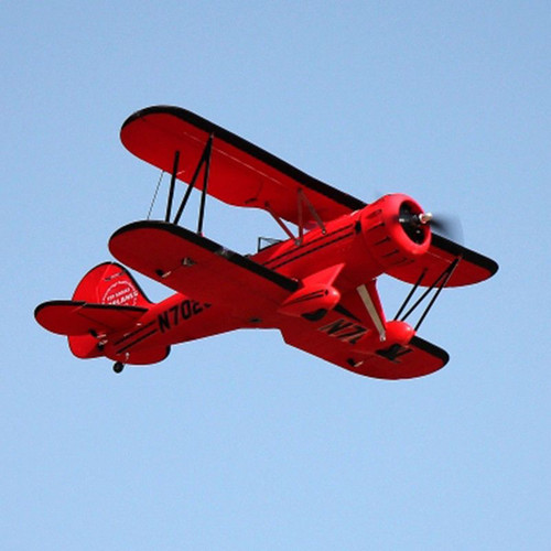 "RC Airplane  DYNAM WACO YMF-5D RED 1270mm (50"") Stabilized Ready To Fly (SRTF)"
