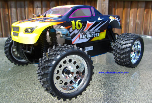 RC MONSTER NITRO GAS TRUCK 1/16 Scale 2.4G 4X4 RC  4WD RTR 28610