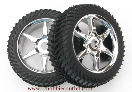 81035 Silver Wheel 1/8 SCALE (2 wheels)