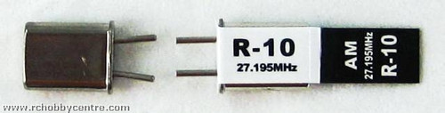 27.195 MHz R-10 AM CRYSTAL SET  (10)