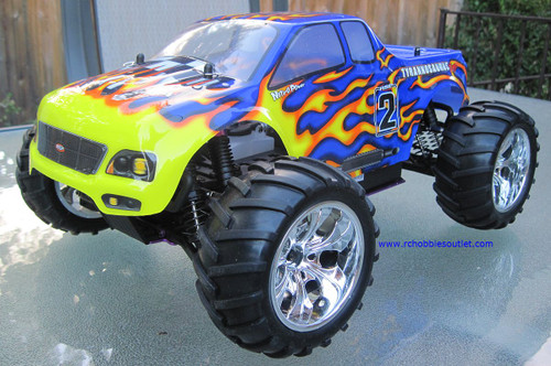 RC NITRO GAS MONSTER TRUCK HSP 1/10 Scale 4WD 2.4G RTR 88004