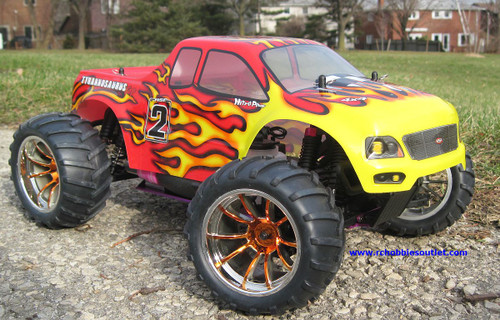 RC NITRO GAS MONSTER TRUCK 2.4G HSP 1/10 CAR 4WD  RTR 88003