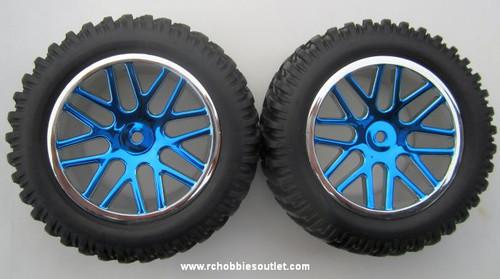 15520 15502 Wheels --Tire & Blue Rim  for Short Course Truck