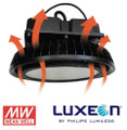 300W, 400W, 500W LED High Bay LITE-SHL-HB Cooling Convection Vents