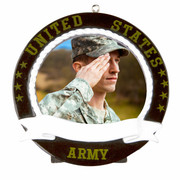 Personalized Army Frame Ornament