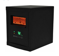 Lifezone 4 Element Infrared Heater Black Cabinet