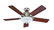 Hunter Brookline 52 in. Brushed Nickel Ceiling Fan