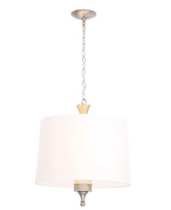 Hampton Bay Towne 3-Light Brushed Nickel Hanging Pendant