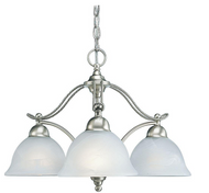 Avalon Collection 3-Light Brushed Nickel Chandelier