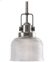 Archie Collection 1-Light Antique Nickel Mini Pendant
