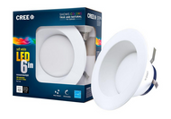 4-pack Cree 6 in. 65W Equivalent Soft White (2700K) Dimmable LED Retrofit Recessed Downlight