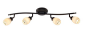 Hampton Bay 4-Light Bronze Directional Ceiling or Wall Track Lighting Fixture