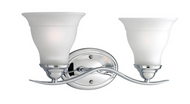 Trinity Collection 2-Light Chrome Bath Light