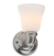 Hampton Bay 1-Light Brushed Nickel Sconce