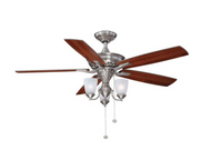 Hampton Bay Havenville 52 in. Brushed Nickel Ceiling Fan