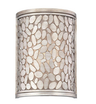 World Imports Amano Collection 1-Light Silver Wall Sconce