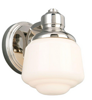 Set of 2 Whitford 1-Light Polished Nickel Sconce