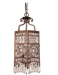 Bel Air 3-Light Rubbed Oil Bronze Crystal Pendant