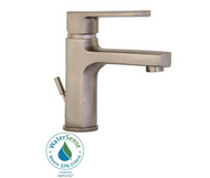 LaToscana Novello Single Hole 1-Handle Low-Arc Bathroom Faucet in Brushed Nickel