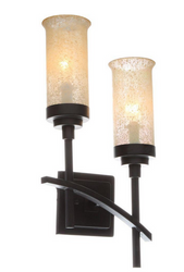 Hampton Bay 2-Light Iron Oxide Sconce