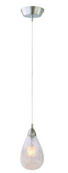Arctica Collection 1-Light Satin Nickel Hanging Pendant