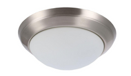 Hampton Bay 2-Light Brushed Nickel Flush-Mount
