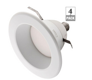 65W Equiv Soft White (2700K) 6 in. Mid-Range Dimmable LED Downlight (4-Pack)