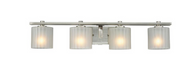 Hampton Bay Sheldon Collection 4-Light Brushed Nickel Bath Bar Light