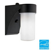 (2) Lithonia Wall-Mount Outdoor Black Fluorescent Cylinder Light