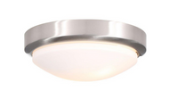 World Imports 2-Light Brushed Nickel Flushmount