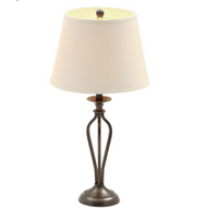 Hampton Bay Rhodes 28 in. Bronze Table Lamp