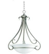 Torino Collection 3-Light Brushed Nickel Foyer Pendant