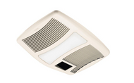 QTX Series Very Quiet 110 CFM Ceiling Exhaust Fan w/ Light and Heater