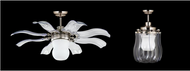 Vento Fiore 42 in. Brushed Nickel Retractable Ceiling Fan