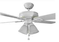 Hampton Bay Lyndhurst 52 in. Indoor White Ceiling Fan