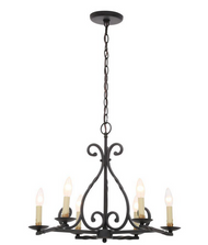 World Imports Rennes 6-Light Rust Chandelier