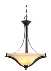 Commercial Electric 3-Light Rustic Iron Pendant