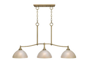 Keswick 3-Light Brushed Brass Island Pendant