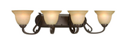 Progress Lighting P2884-77 4-Light Bath  Forged Bronze