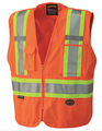 Orange Hi-Viz Safety Mesh Back Vest