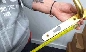 How to measure upvc Door Handles