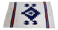 Blue & White Turkish Tribal Rug