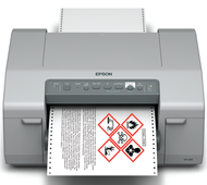 Epson ColorWorks GP-C831 Printing a Color GHS Drum Label