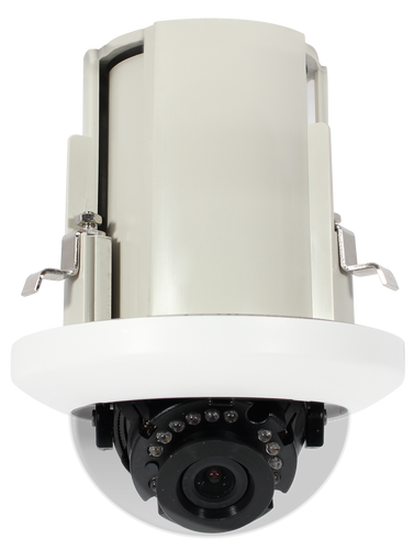 2MP IR In-Ceiling IP Dome Camera with WDR