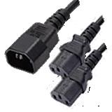 IEC to IEC 2 Way Splitter